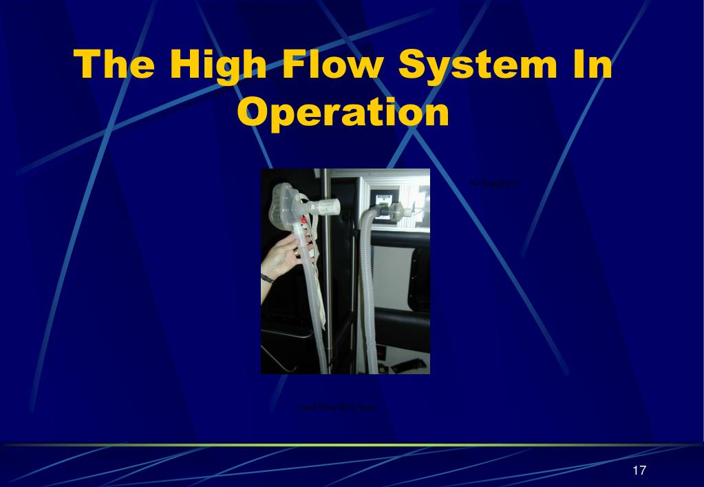 The High Flow System In Operation
