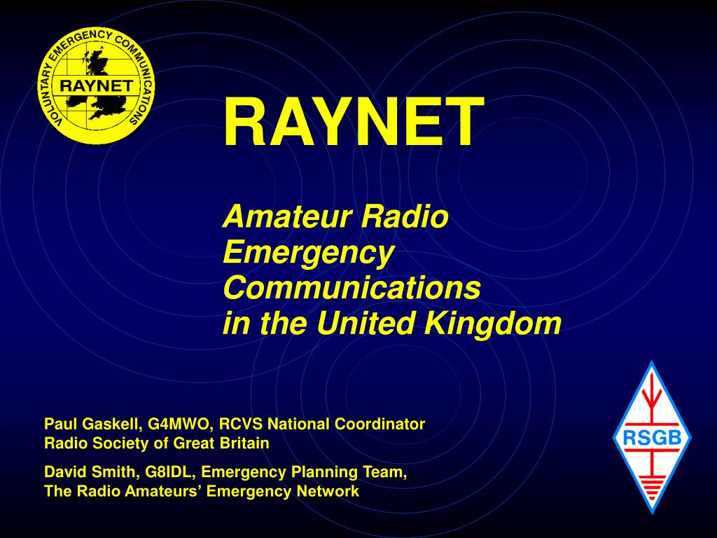 raynet amateur radio emergency communications in the united kingdom l.