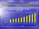 background county population up
