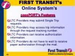 first transit s online system s
