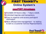 first transit s online system s51