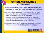 other assistance attendants