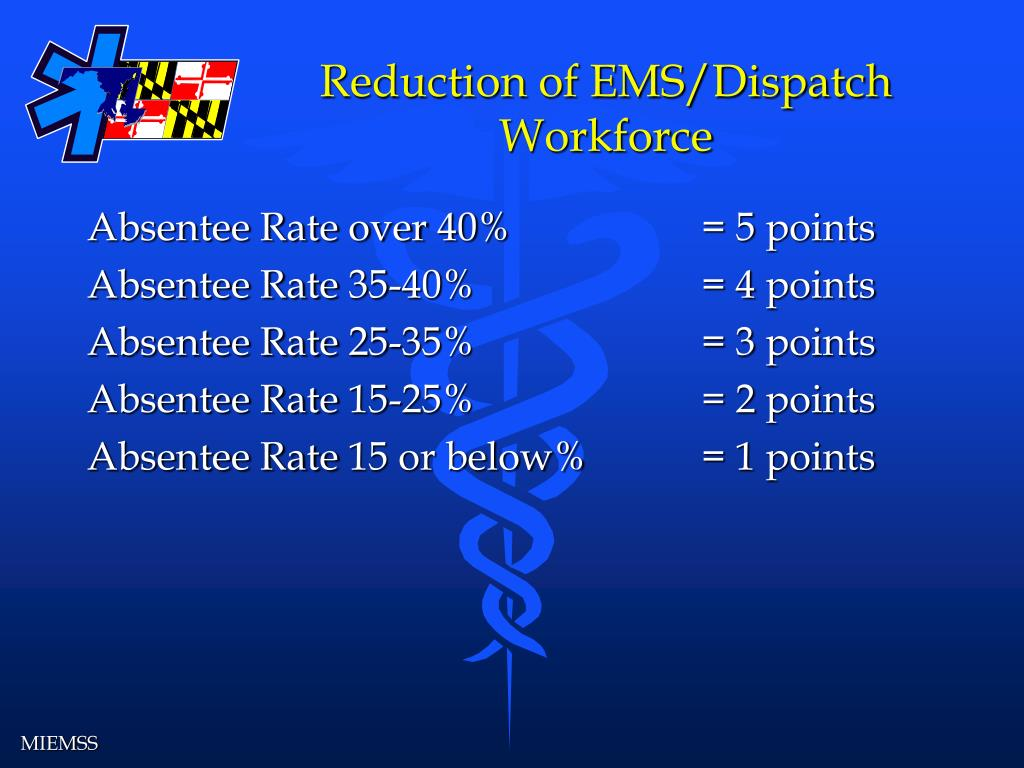 Reduction of EMS/Dispatch Workforce