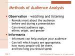 methods of audience analysis