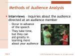 methods of audience analysis1