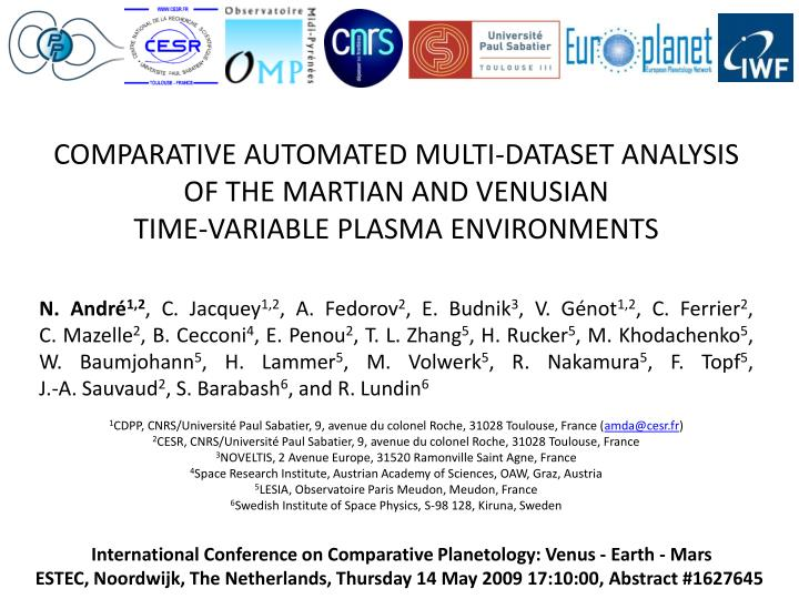 COMPARATIVE AUTOMATED MULTI-DATASET ANALYSIS