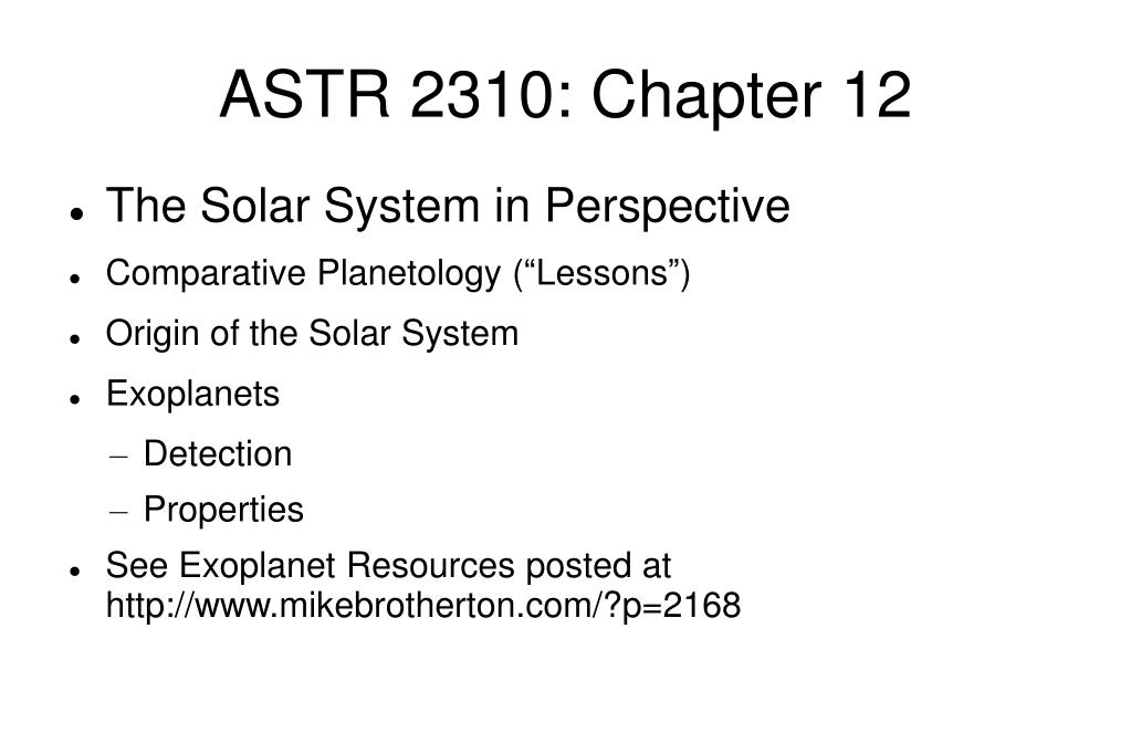 astr 2310 chapter 12 l.