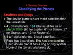 a planetary overview classifying the planets