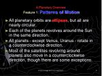 a planetary overview feature 1 patterns of motion