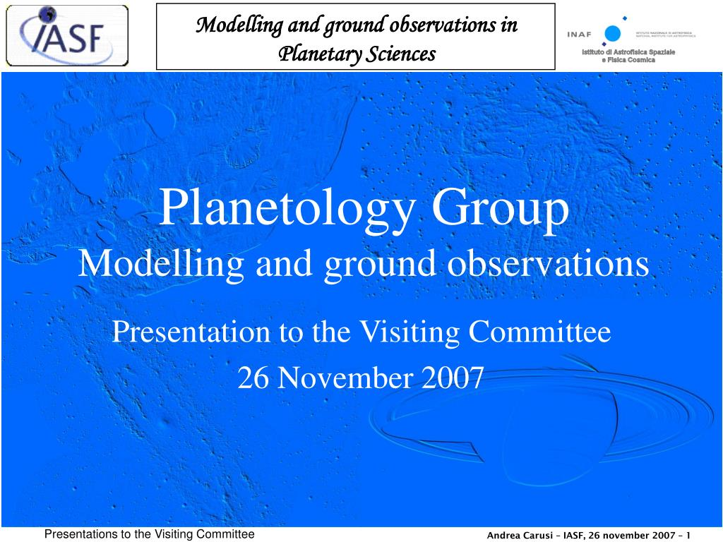 Planetology Group