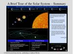 a brief tour of the solar system summary