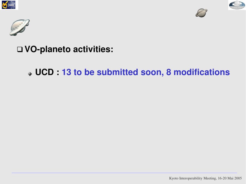 VO-planeto activities: