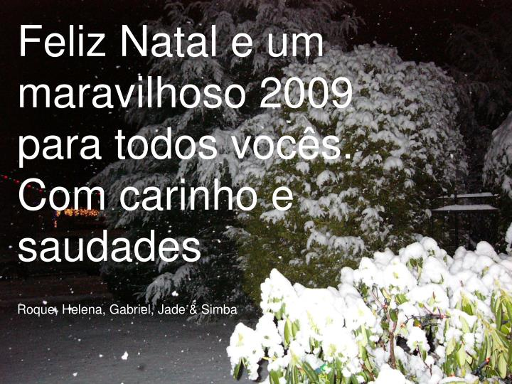 Feliz Natal e um maravilhoso 2009