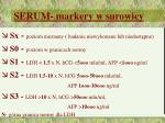 serum markery w surowicy