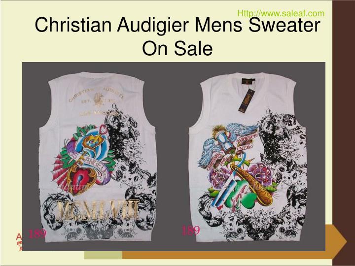 Christian audigier mens sweater on sale3
