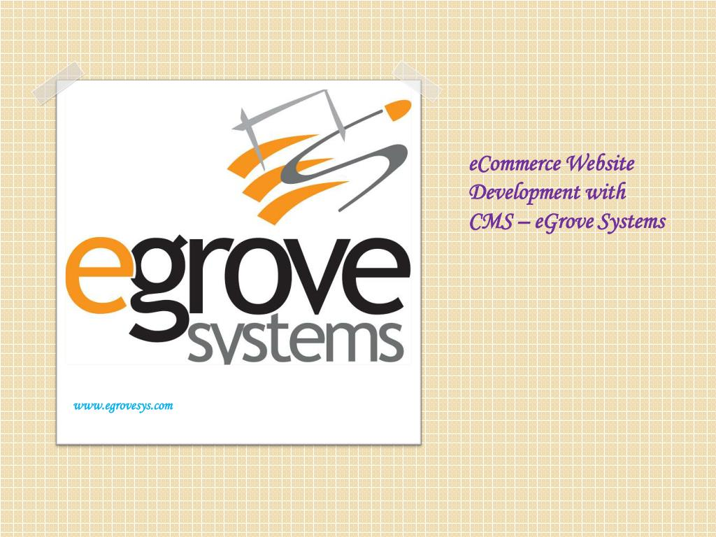 ecommerce website development with cms egrove systems