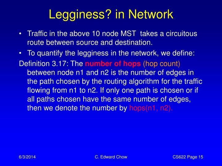 Legginess? in Network