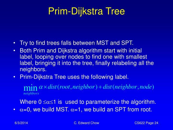 Prim-Dijkstra Tree