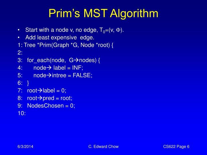 Prim's MST Algorithm