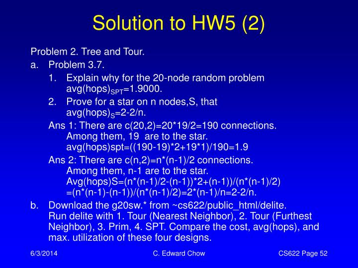 Solution to HW5 (2)