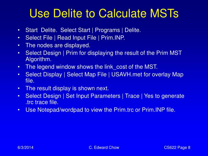 Use Delite to Calculate MSTs