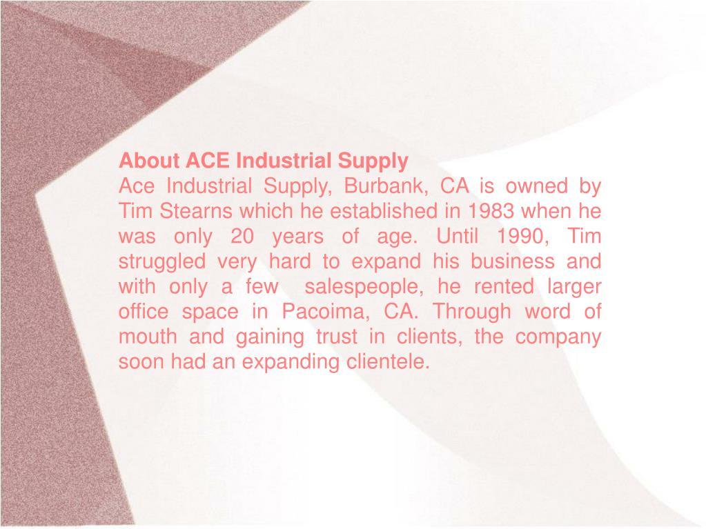 About ACE Industrial Supply