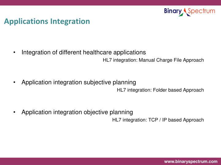 Applications integration