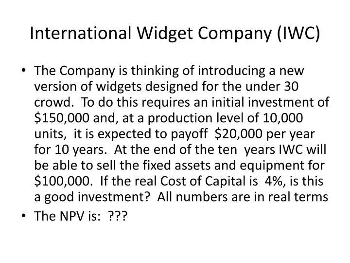 International Widget Company (IWC)