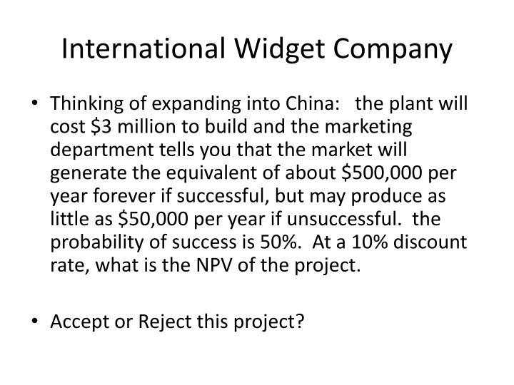 International Widget Company