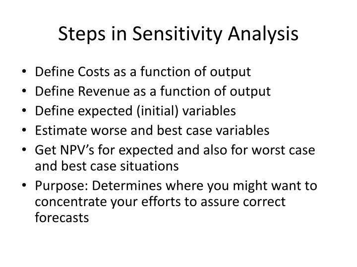 Steps in Sensitivity Analysis