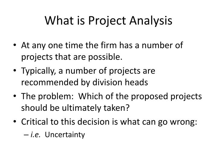 What is project analysis