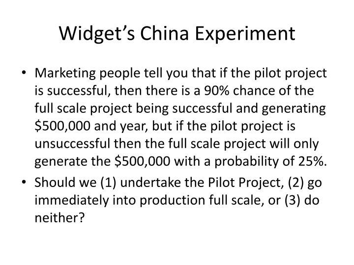 Widget's China Experiment