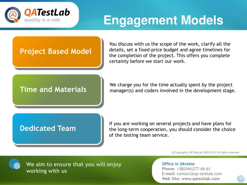 Engagement Models