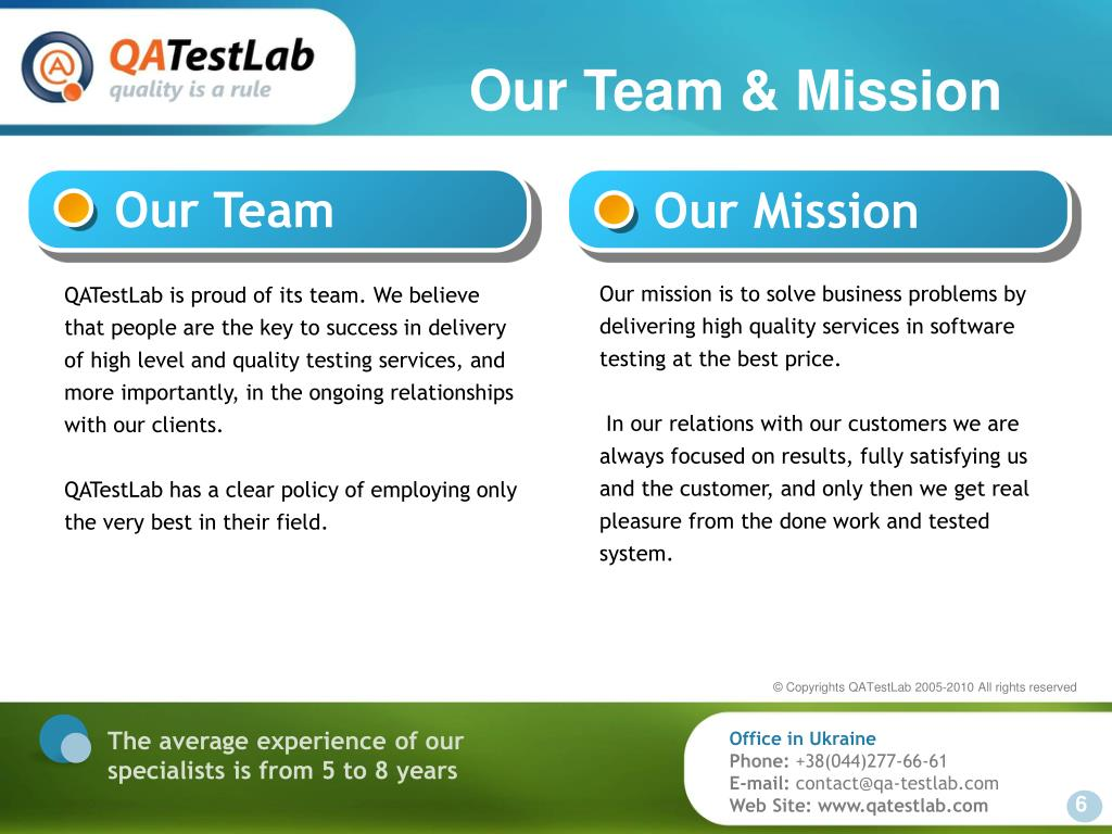 Our Team & Mission