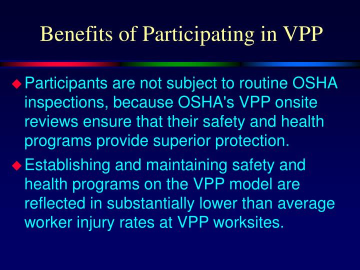 Benefits of Participating in VPP