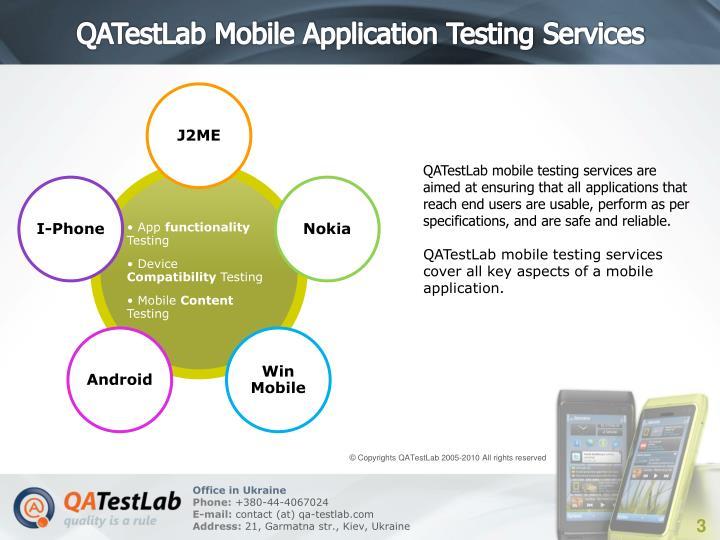 QATestLab Mobile Application Testing Services