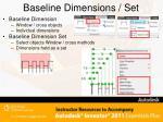baseline dimensions set