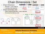 chain dimensions set