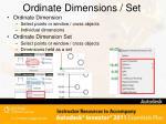 ordinate dimensions set