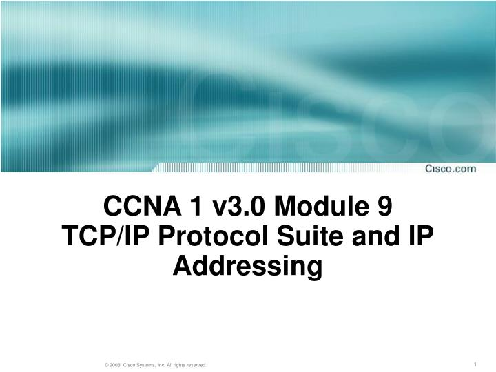 ccna 1 v3 0 module 9 tcp ip protocol suite and ip addressing n.