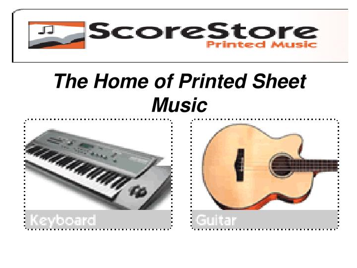 the home of printed sheet music n.