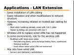 applications lan extension