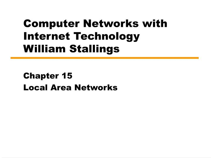 computer networks with internet technology william stallings n.
