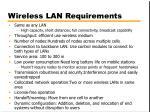 wireless lan requirements