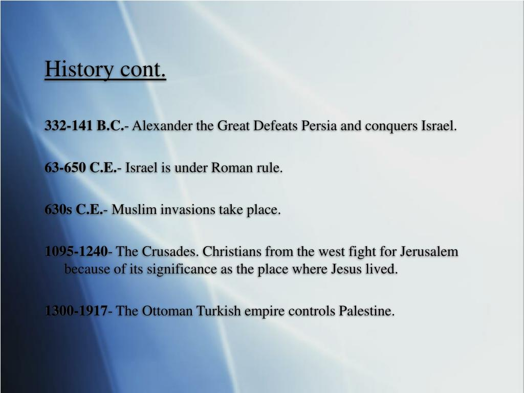 History cont.