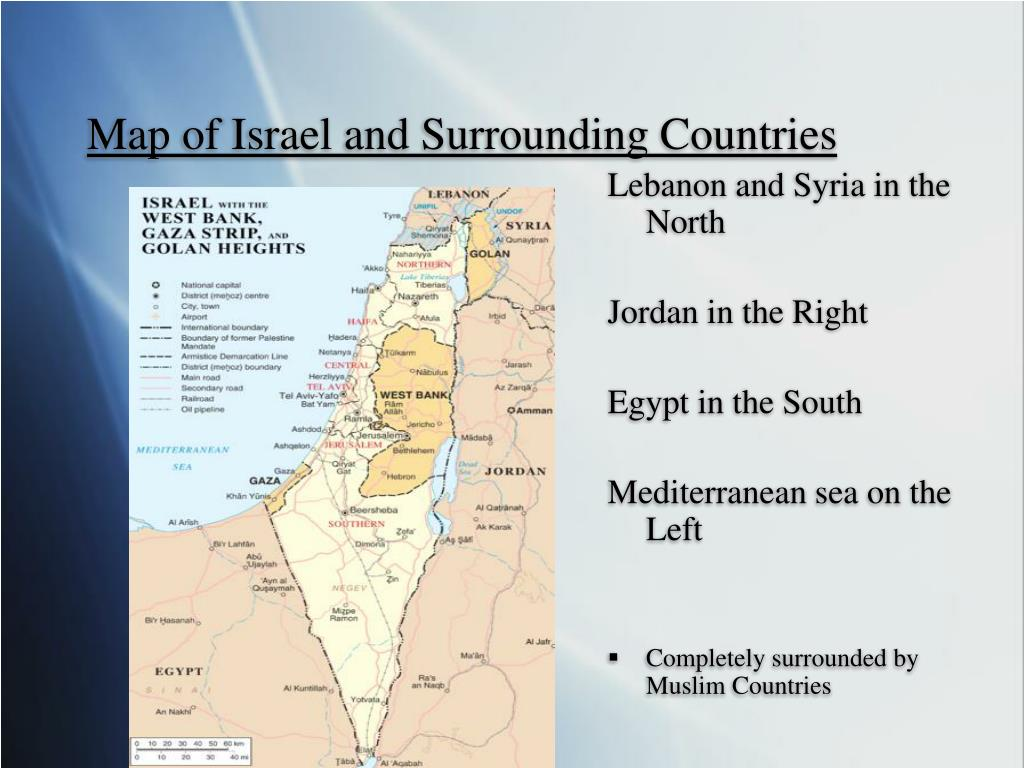 Map of Israel and Surrounding Countries