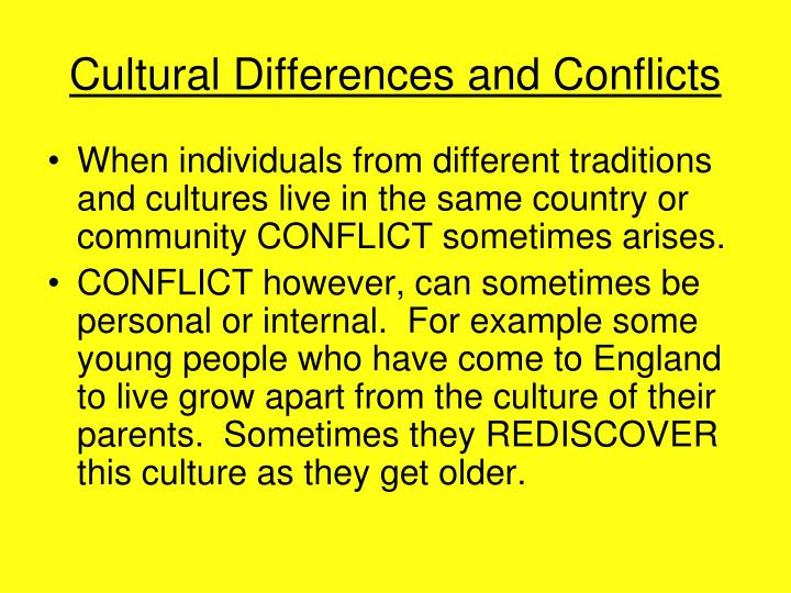 Cultural Differences and Conflicts