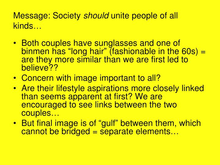 Message: Society
