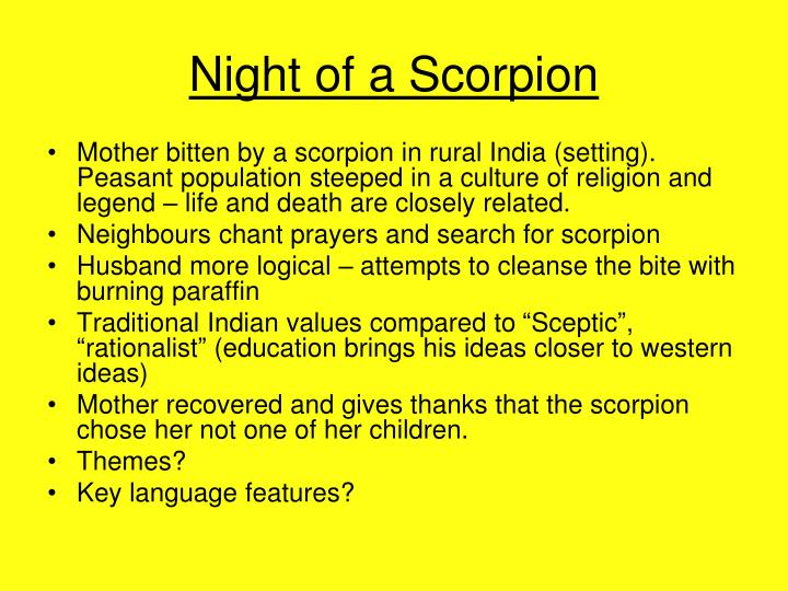 Night of a Scorpion