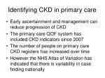 identifying ckd in primary care